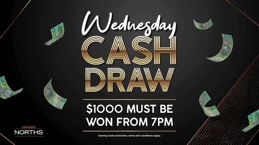 Wednesday Cash Draws